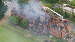 Little Plumstead Hall from the air