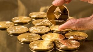 Monedas con el símbolo de ethereum