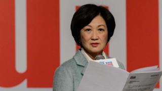 葉劉淑儀2016年12月15日召開記者會宣佈投入特首選舉。