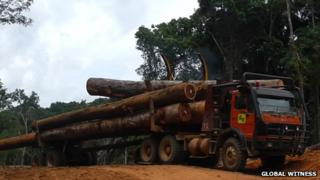 Dugbeh Forest Logging Truck