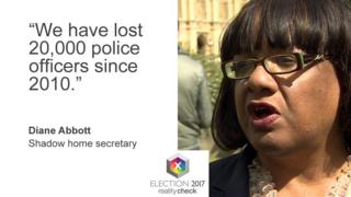 """Diane Abbott: """"We have lost 20,000 police officers since 2010."""""""