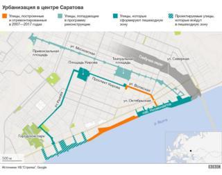План реконструкции в центре Саратова
