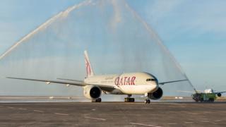 Boeing 777-200LR de Qatar Airways