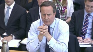 David Cameron before the liaison committee of MPs