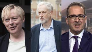 Angela Eagle, Jeremy Corbyn and Owen Smith