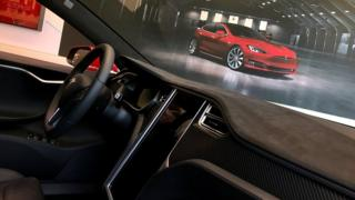 Tesla Autopilot in Model S car
