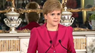 Kiongozi wa serikali ya Scotland Nicola Sturgeo