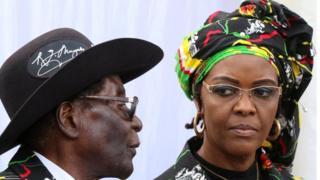 Mugabe na mkewe