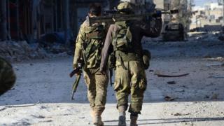 El Bab'da ÖSO güçleri