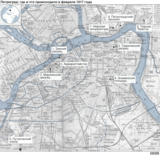 Карта Петрограда