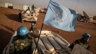 UN peacekeepers in eastern Mali (file image)