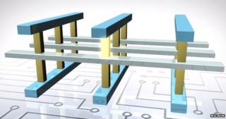 3D Xpoint memory wafer