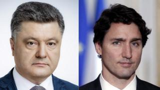 Президент Украины Петр Порошенко и премьер-министр Канады Джастин Трюдо