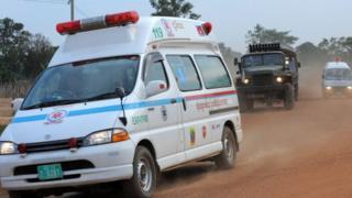 An ambulance in Cambodia