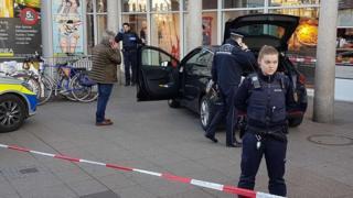 El auto usado para el ataque en Heidelberg