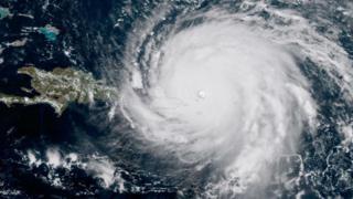 Imagem do Irma via satélite
