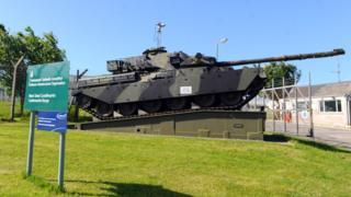 Tank at the Castlemartin Range