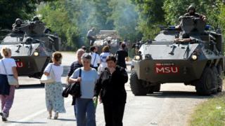 Austrian troops near Rudare, northern Kosovo, 2011