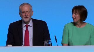 Jeremy Corbyn and TUC general secretary Frances O'Grady