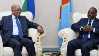 Le président Kabila en visite en Afrique du Sud.