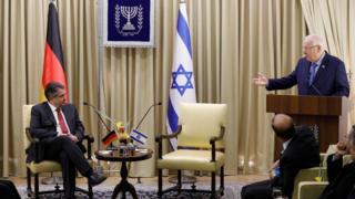 وزیر خارجه آلمان و رئیس جمهور اسرائیل