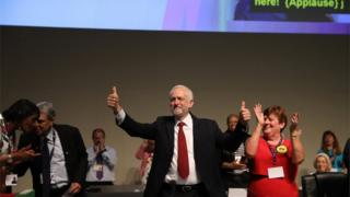 Jeremy Corbyn at the Unison conference