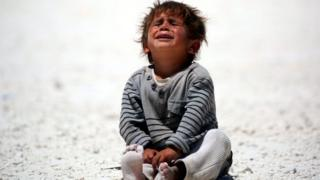 طفل من أبناء اللاجئين