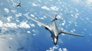 US Bombers during the joint drill with Japan