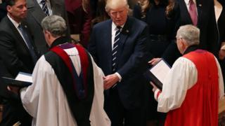 Дональд Трамп и священнники