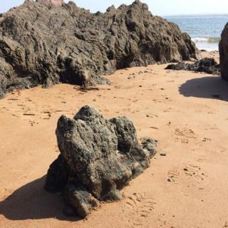 Rocks at Rosemarkie beach