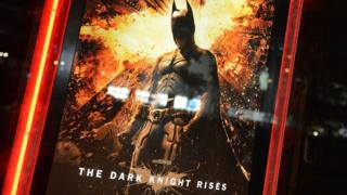 A poster for The Dark Knight Rises