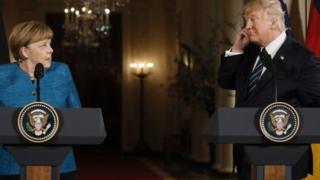 Angela Merkel na Donald Trump