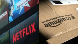 Amazon and Netflix logos