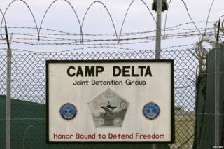 The exterior of Camp Delta