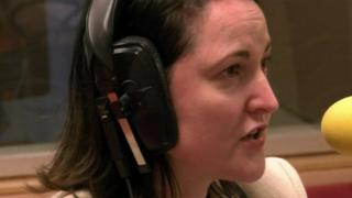 Alison Hernandez on a radio show
