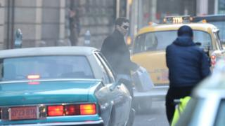 Benedict Cumberbatch filming in Glasgow