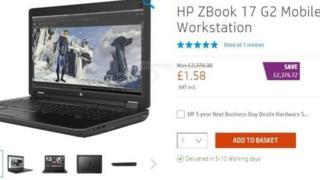 HP'nin internet sitesndeki ilan
