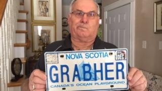 The Nova Scotia government told Lorne Grabher that his name was too offensive to put on a license plate.