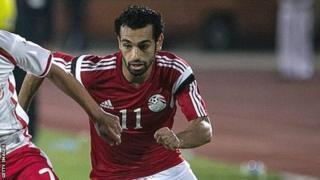 Roma winger Mohamed Salah