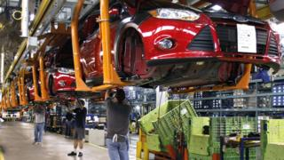 Ford Focus assembly line, Michigan