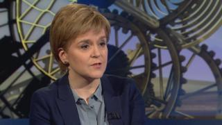 Nicola Sturgeon on Sunday Politics Scotland