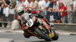 Racer at the Isle of Man TT