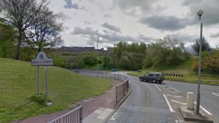 Roundabout near the Redheugh Bridge in Gateshead