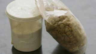 Pills branded as Captagon seized by the Lebanese authorities in 2010
