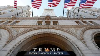The Trump International Hotel on the opening day in Washington DC, September 12, 2016