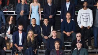 Chris Hemsworth, Pratt and Evans alongside Gwyneth Paltrow and Chadwick Boseman