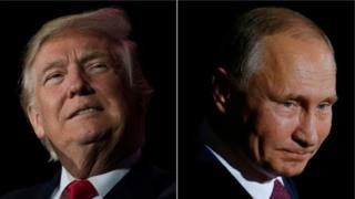 美國總統特朗普和俄羅斯總統普京