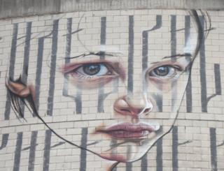 Artwork on Aberdeen building