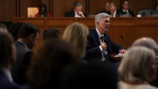 Gorsuch giving three days of testimony to the Senate panel last month