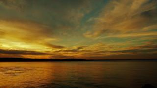 Sunset over Millport